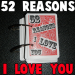 Turn a Deck of Cards into a 52 Reasons I Love You Book for a Valentines Day Gift