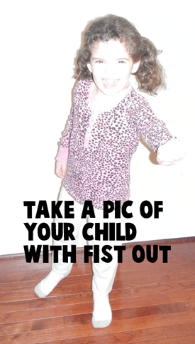 step1 : Take a Picture of Your Child