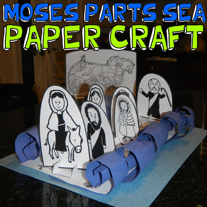 Moses Parting the Sea Old Testament Bible Exodus Passover Craft