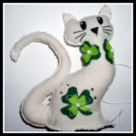 How to Sew a Shamrock Lucky Cat