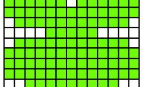 Pixelated Shamrock Template