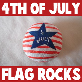 How to make a Painted Stone or Rock 4th July Paper Weight or Decoration