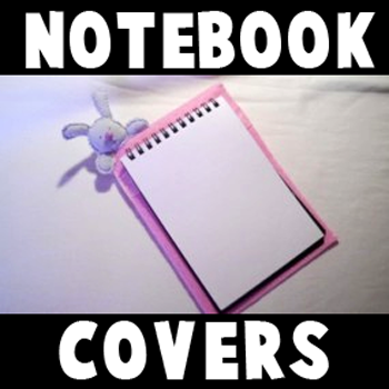 How to Make a Sewn Notebook Cover with Cute Bunny on Top for Girls