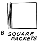 You will have 2 square tissue paper packets