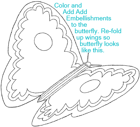 Decorate the butterfly