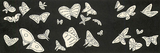The butterfly is ready to be pasted down by either one wing, or the body.