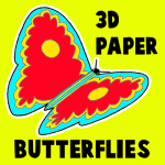 How to Make 3D Paper Butterflies Artwork