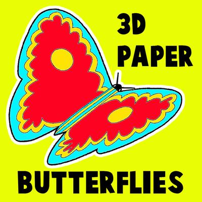 How to Make 3D Paper Butterflies Artwork