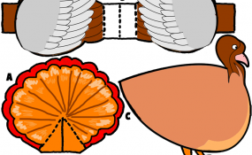 Color Paper Turkey Template